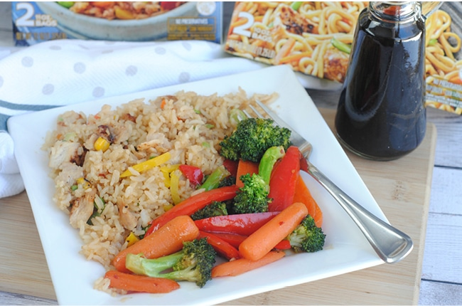 Stir fried vegetables are a great addition to fried rice for Chinese New Years!