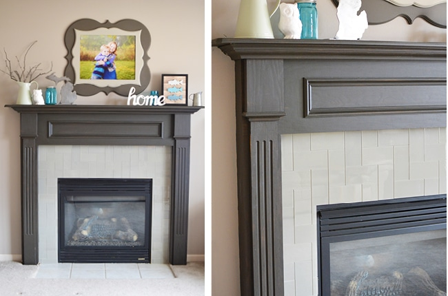 A easy and stylish way to complete a fireplace makeover in one day!