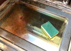 This DIY Oven Cleaner only requires 3 ingredients and will leave your oven looking clean and shiny.