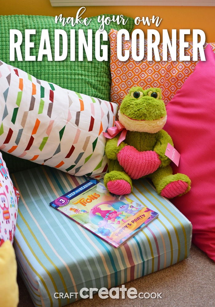 You can create an affordable and effective reading corner in your home no matter what size the space!