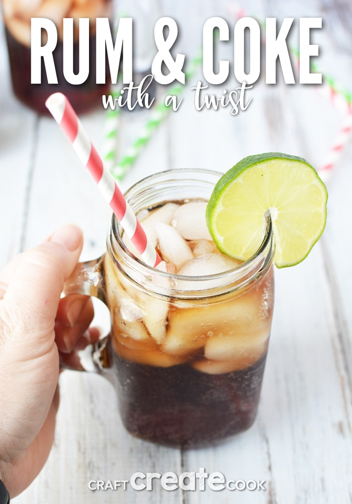 The classic rum and coke recipe takes on a summertime twist!