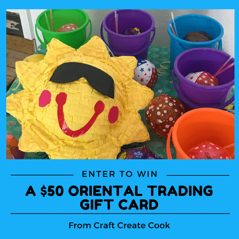 Enter to win a $50 gift card from Oriental Trading Company!