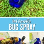 This Kid-Friendly Bug Spray for Ages 3+ will keep the bugs away with just a couple simple ingredients mixed with essential oils.