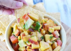 Homemade Peach Salsa is easy to make and will have your taste buds asking for more!