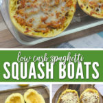 Low carb spaghetti squash boats are the perfect easy fall dinner idea!