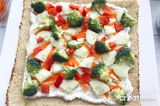 Looking to eat healthier this holiday season? Try this low carb veggie pizza!