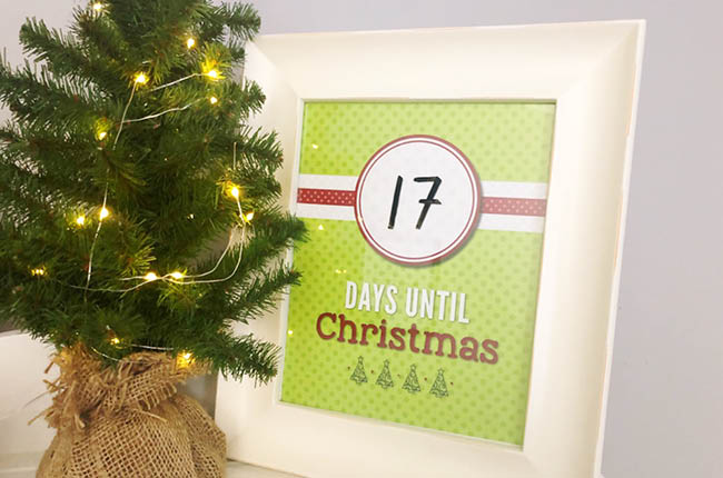 If you and your family love counting down the days until Christmas together than this Countdown to Christmas Printable will be perfect for your family.