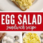 This Egg Salad Sandwich Recipe is easy to make and tastes fantastic too.