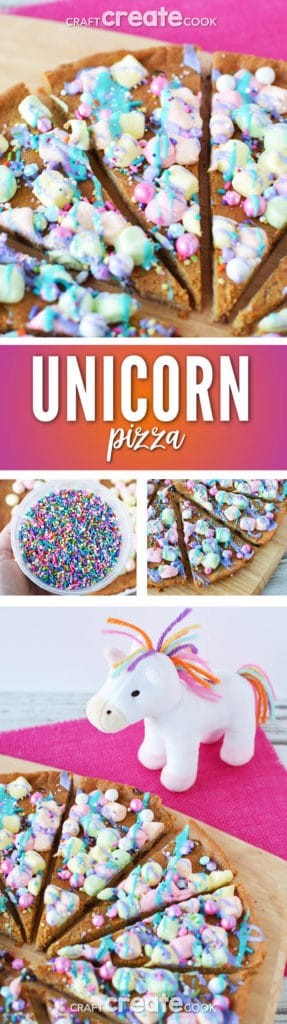 You'll wow your friends and bring out the magic with this easy to make unicorn pizza recipe!