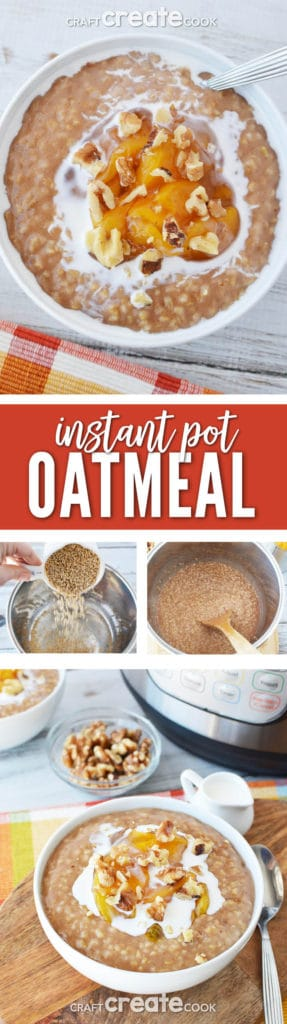 Our easy Instant Pot Oatmeal will become part of your morning routine in no time!
