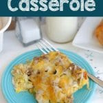 Breakfast casserole collage