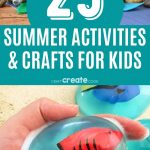 summer activities collage