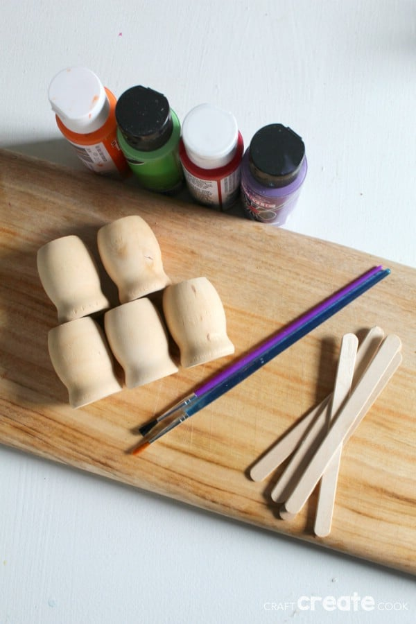 Supplies for making wooden garden markers