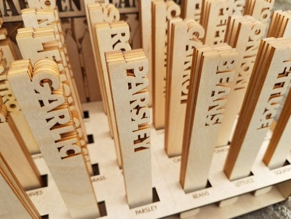 Wood Cut Out Garden Markers