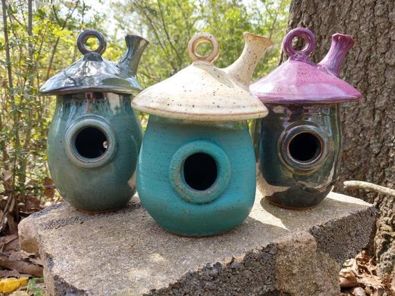 Fairy House, Pottery Whimsical Garden Fairy House, Handmade Pottery