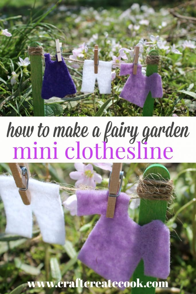 Fairy garden clothesline collage