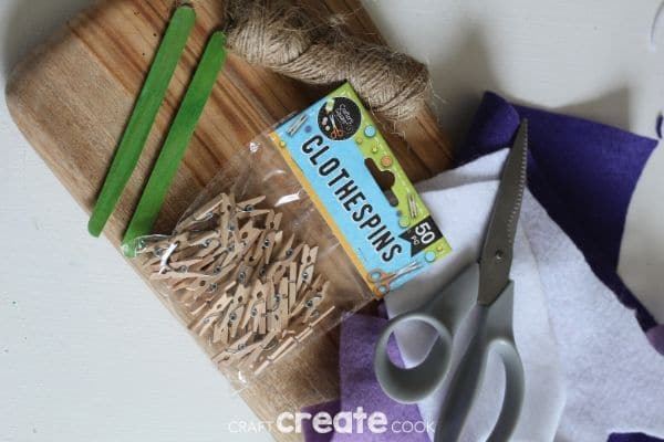 Supplies for fairy garden clotheline