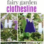 Fairy garden clothesline collage