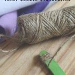 Supplies for fairy garden clothesline