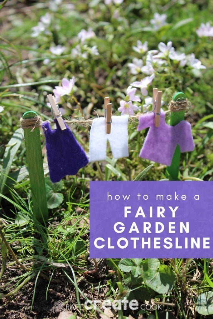 Fairy clothesline in garden