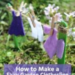 Fairy clothesline in garden
