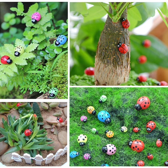 20pcs Fairy Garden Accessories Mini Multi-size Colourful | Etsy