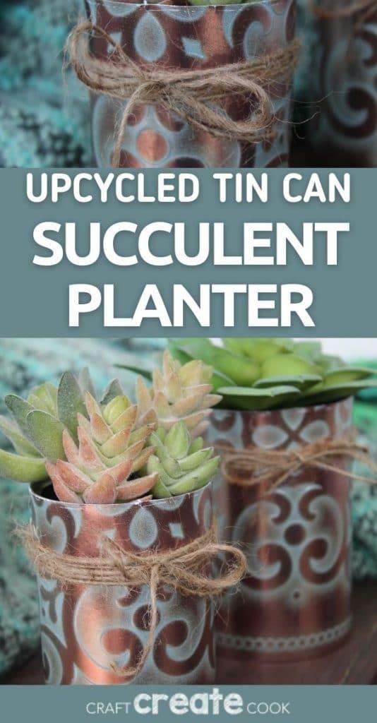 Succulent planter collage