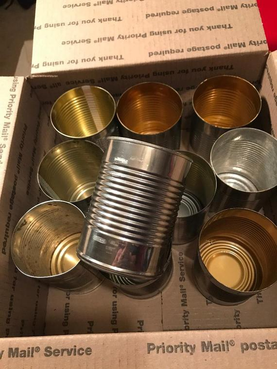 Metel Tin Cans/20 ounce Tin Cans/Crafting cans/Floral | Etsy