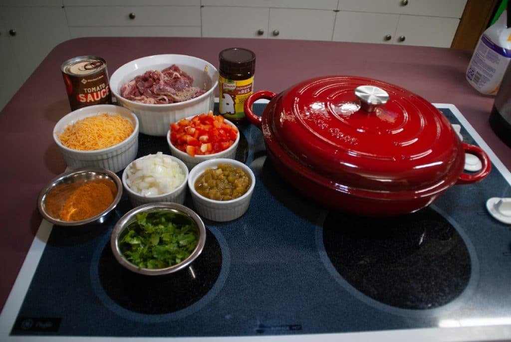 Ingredients for dirty rice casserole