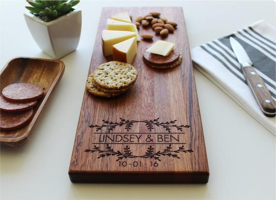 Personalized Cheese Board Valentines Day Gift Housewarming   Etsy