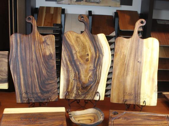 Dad Cutting Board Extra Large Live Edge Cutting Board Free   Etsy