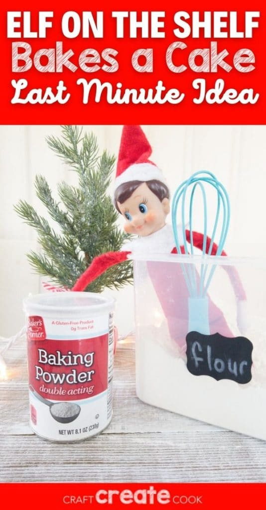 Elf in bucket of flour