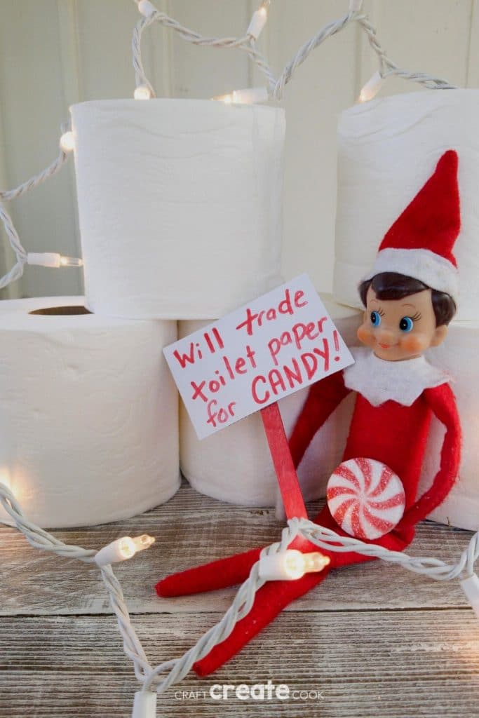 Elf sells toilet paper