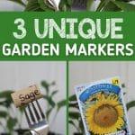 Garden marker collage image